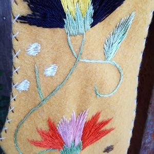 vintage Jackets & Coats - vintage mexican embroidered wool vest